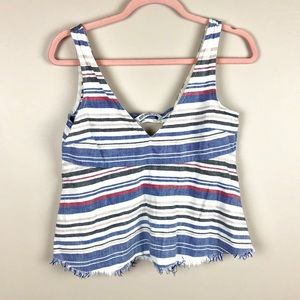 ZARA Red White and Blue Crop Top